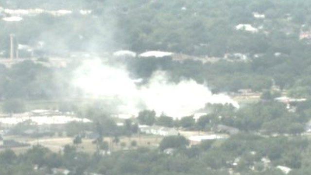 Three-Alarm Fire At OKC Vacant Apartment Complex