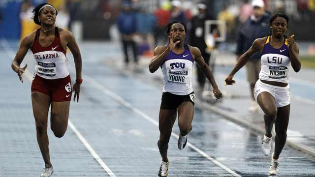 OU's Candyce McGrone Claims 100-Meter Dash Title