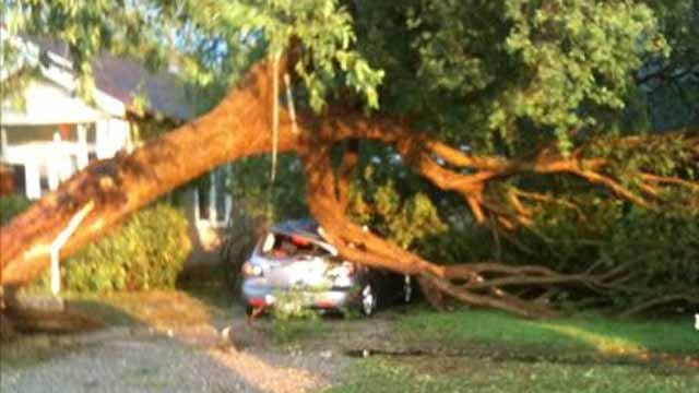 Widespread Damage Reported In Norman After Storms