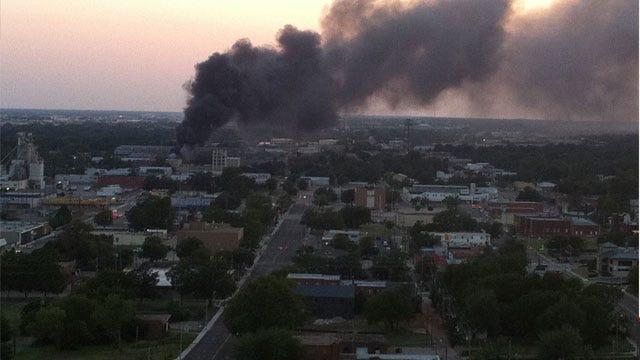OKC Firefighters Fight Three-Alarm Blaze