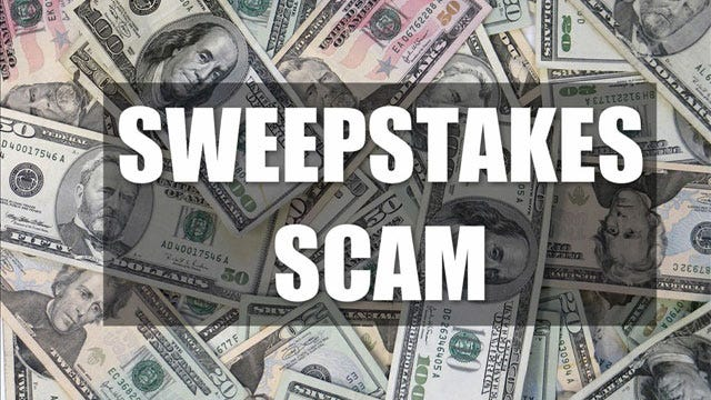 Oklahoma Attorney General Warns Against Sweepstakes Scams