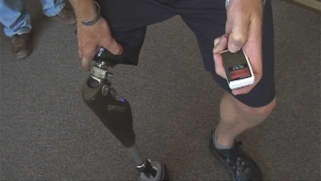 Oklahoma Veteran Tests New Bionic Leg