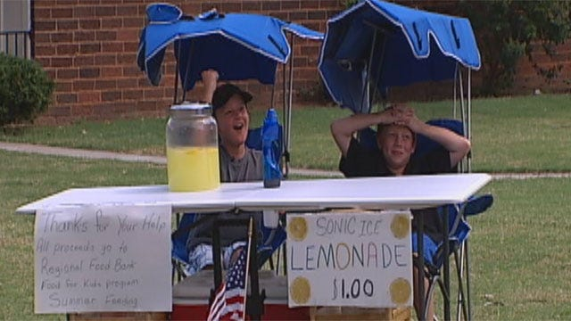 Lemonade Stand Sweet Business For Hungry Oklahoma Kids