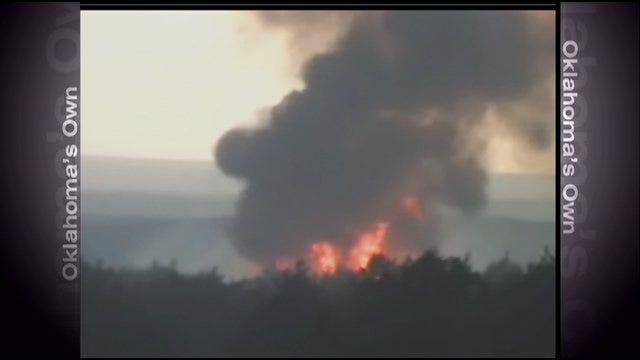 Large Wildfire Burning Near Camargo