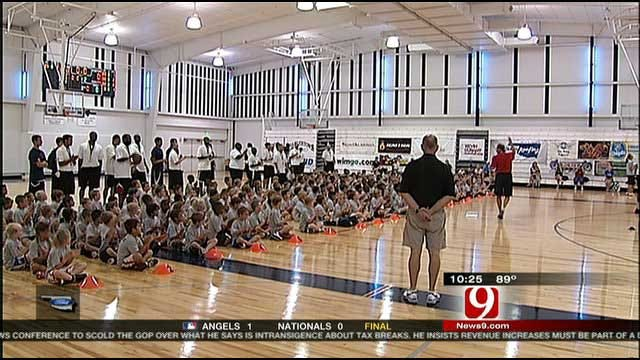 Kevin Durant Hosts Annual Youth Basketball Camp