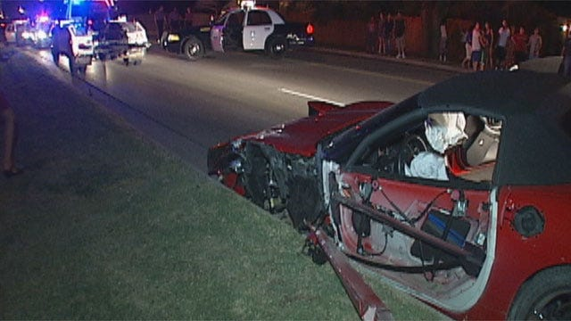 Wild Police Chase Ends In Crash In Northwest OKC