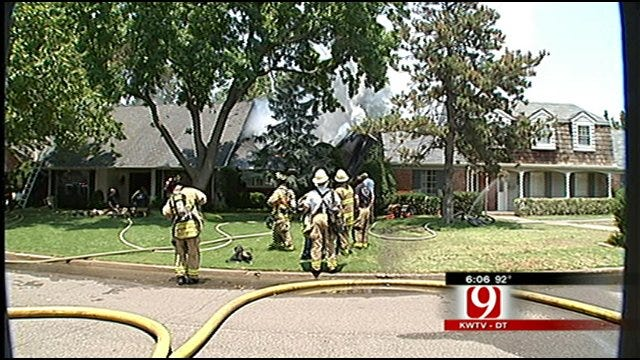 Intense Heat, Winds Hamper Firefighters In N.W. Oklahoma City