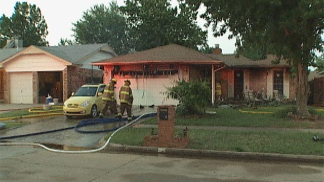 Fire Destroys Mustang Home