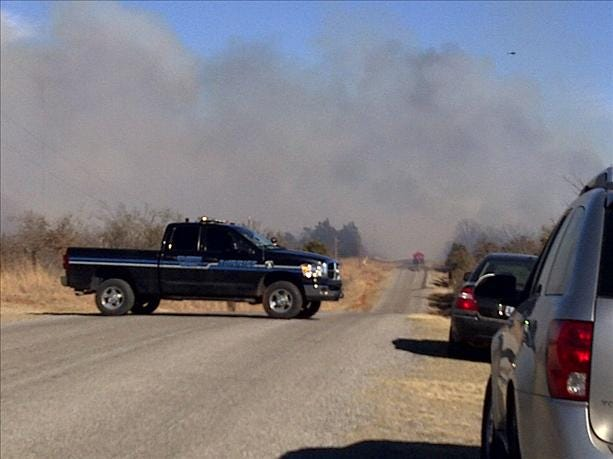 Luther Grassfire Burns Over 1,000 Acres In 2 Days