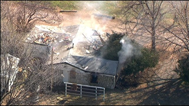 Fire Sweeps Through Southwest OKC Abandoned House