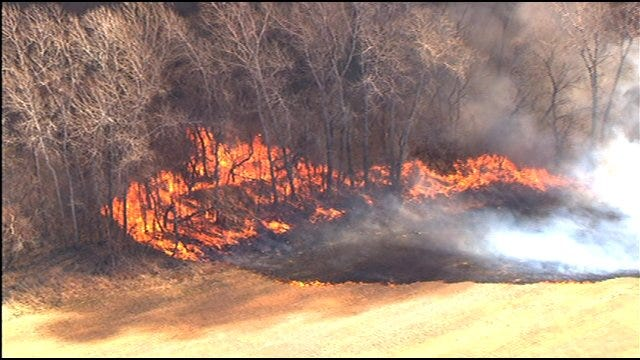 Homes, Barns Destroyed In Wildfire Near Goldsby