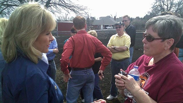 Oklahoma Recovering From More Than 30 Wildfires; Governor Tours Harrah