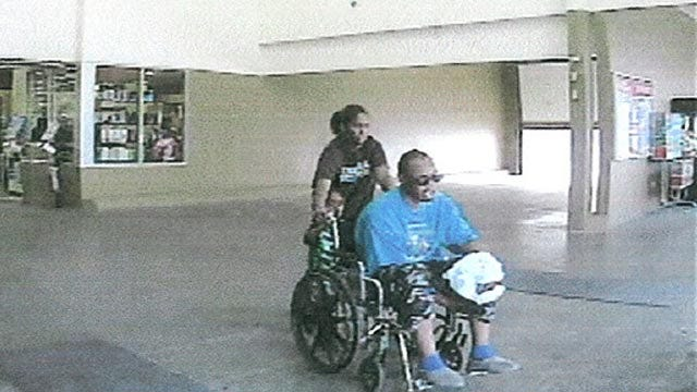 Edmond Police Searching For Couple Who Stole Wheelchair From Walmart