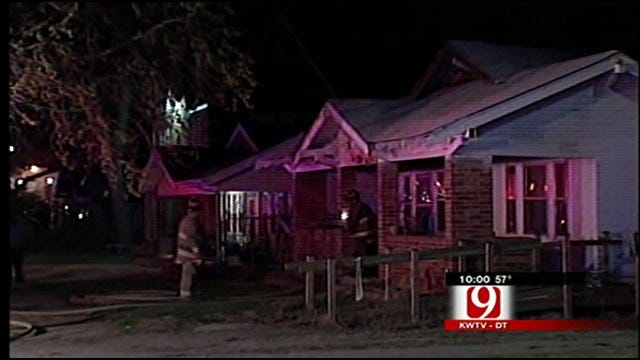 Flames Sweep Through N.W. Oklahoma City Home