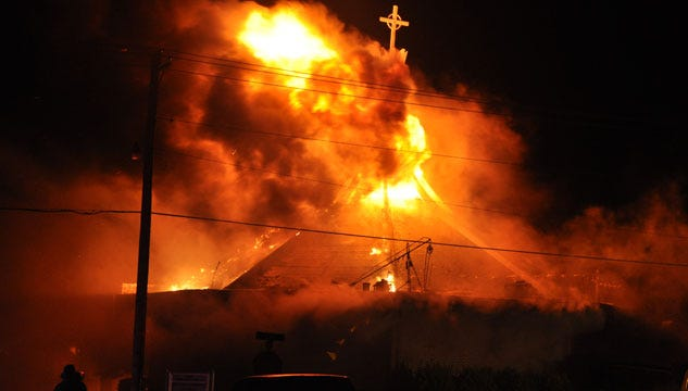 Arson May Be Behind Church Fire In Perry