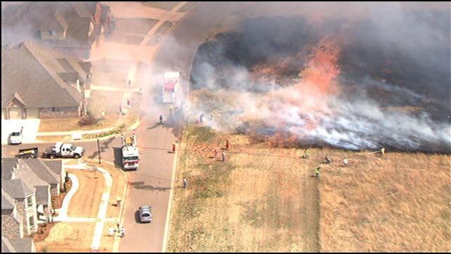 Homes Evacuated In Canadian County Due To Grassfires