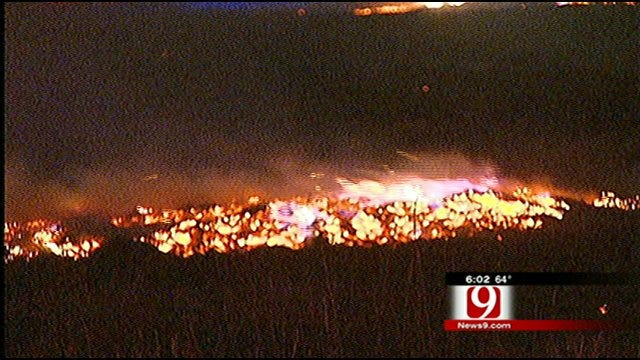 Overnight Wildfire Torches Acres Of Land
