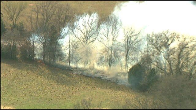 2 Wildfires Burn North Of Shawnee