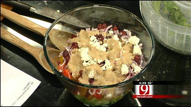 Greek Salad with Creamy Balsamic Vinaigrette