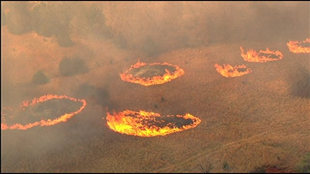Wildfire Burns Out Of Control Near Slaughterville