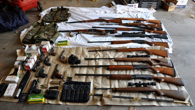 Investigators Find Guns, Stolen Goods In Edmond Garage