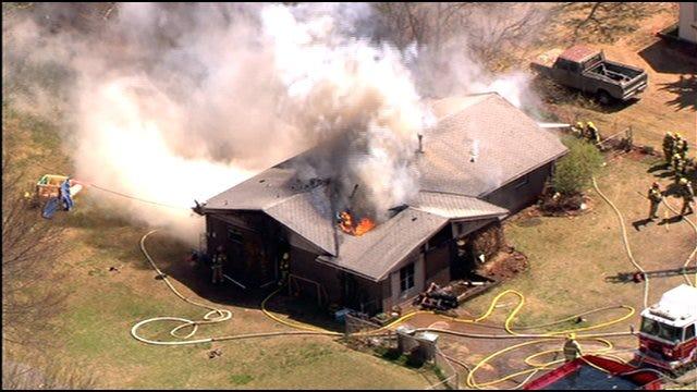Edmond Home Engulfed By Flames