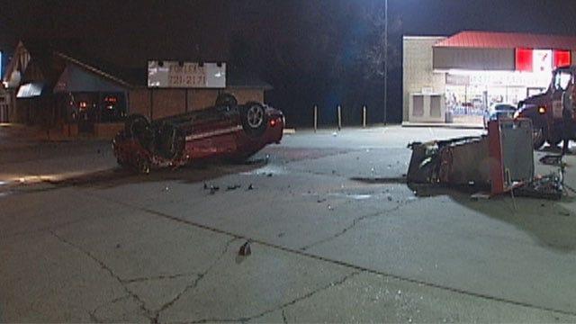 Driver Crashes Into OKC Gas Pump, Starts Fire