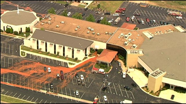 Water Main Break Floods Popular Oklahoma City Church