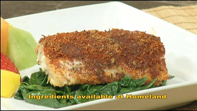 Smoked Paprika Roasted Salmon And Wilted Spinach