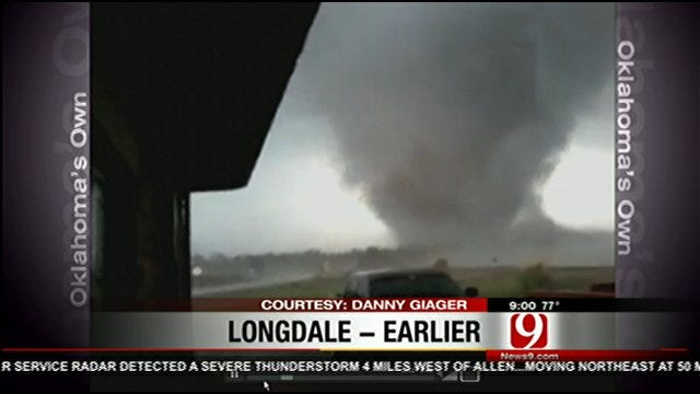 News 9 Viewer Shares Amazing Tornado Video From Longdale