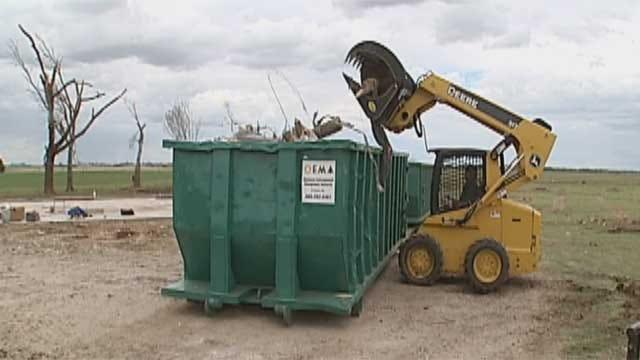 El Reno Residents Try To Clean Up Tornado Debris