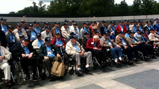 WWII Vets Take Honor Flight To See National Memorial In Washington, D.C.