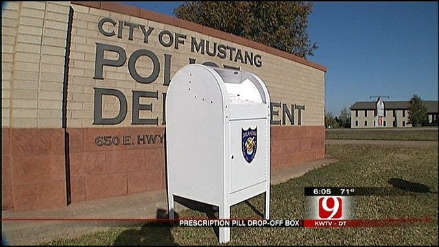 Prescription Drug Drop-Off Box Available In Mustang