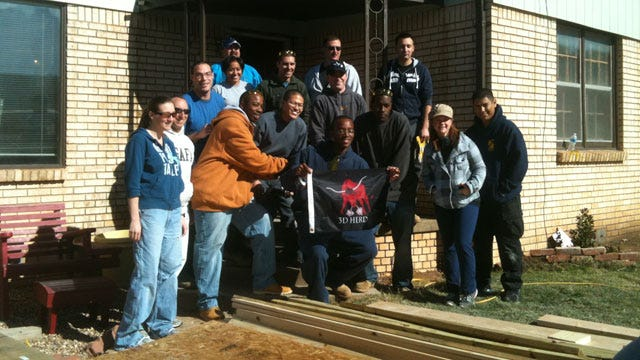 OKC Soldiers Fix Fellow Veteran's Home On Veterans Day