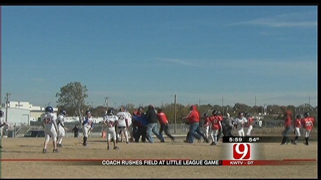Coach Caught On Camera Rushing Field At Edmond Little League Game