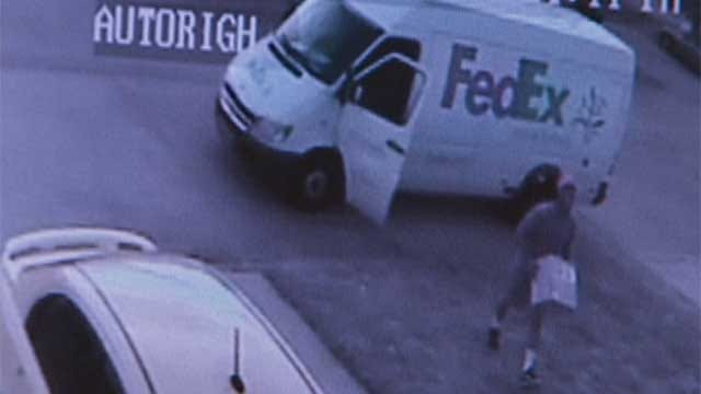Camera Catches FedEx Package Tossed Across OKC Couple's Yard