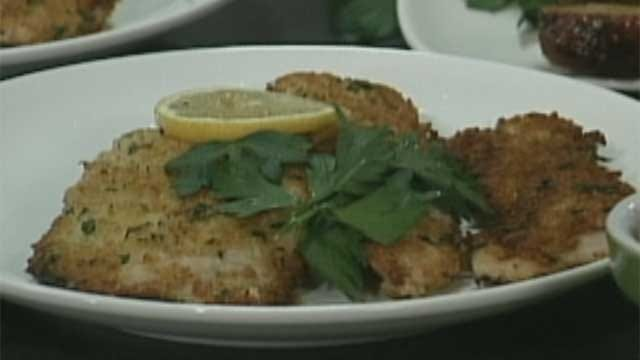 ''Stuffing'' Crusted Turkey Cutlets