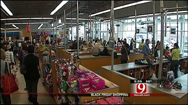 Black Friday Shoppers Still Out In Force
