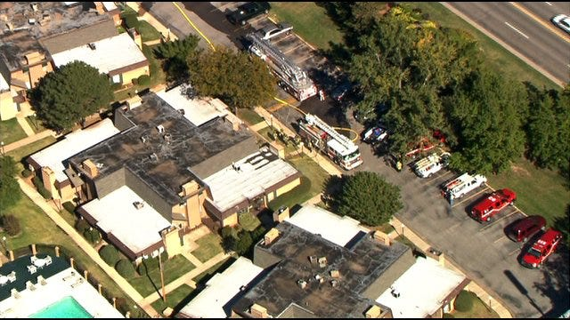 Fire At OKC Apartment Complex Affects Two Families