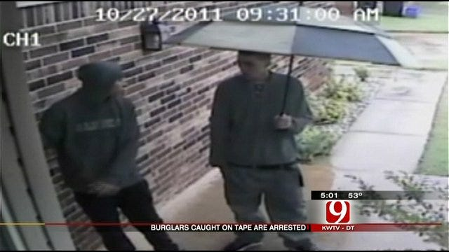 Surveillance Video Helps Police Nab Two In Home Burglary