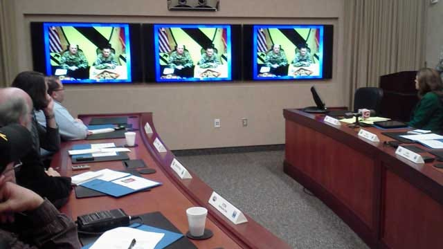 Oklahoma Soldiers Talk From Afghanistan Via Video Teleconference