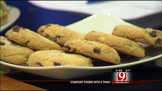 Chocolate Chip Cookies With Flaked Sea Salt