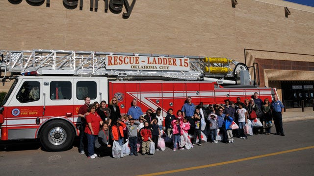 Firefighters Buy Coats, Shoes For OKC Children In Need