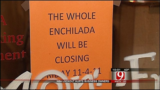 NBA Lockout Impacts Oklahoma City Businesses