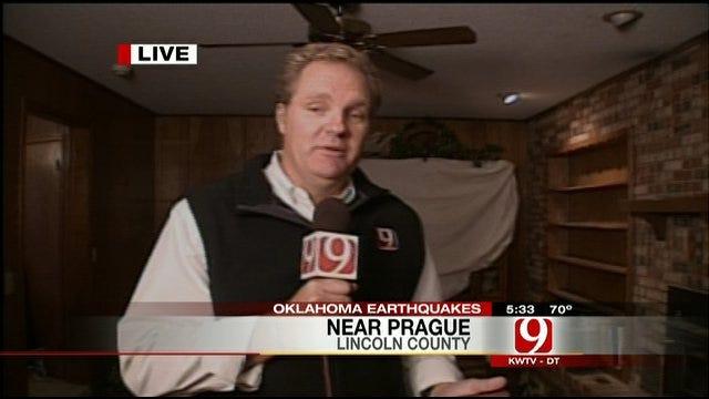 Kelly Ogle Talks To Earthquake Victims On The Scene Near Prague