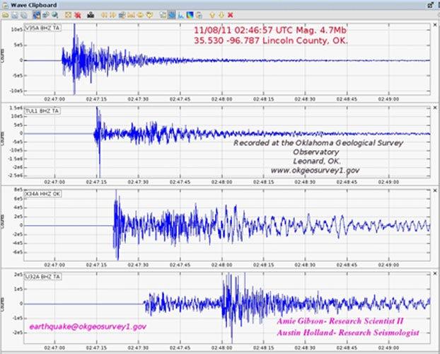 4.7 Magnitude Earthquake Shakes Oklahoma