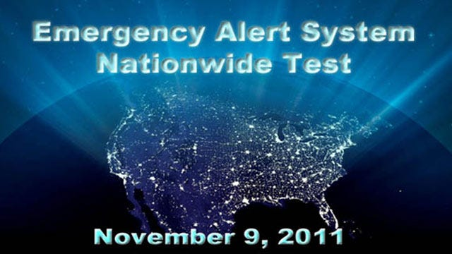 Nationwide Emergency Alert System To Be Tested Wednesday Afternoon