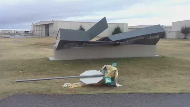 Severe Weather Damages Airport, Neighborhoods In Norman