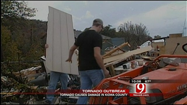 Tornado Causes Damage In Southwest Oklahoma