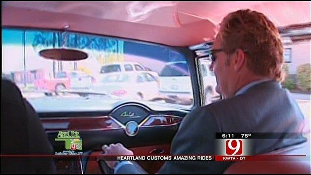 Kelly, Christina Ride In Custom Car At Heartland Customs
